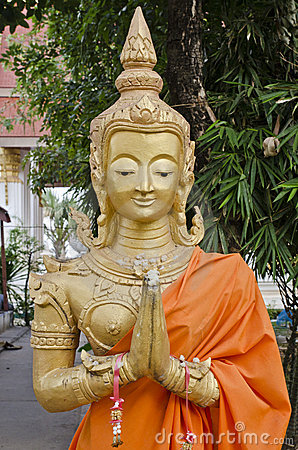 Buddha In Thatluang Temple Royalty Free Stock Photo - Image: 22556075