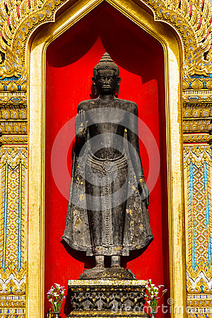 Buddha at wat Benchamabophit  in Thailand