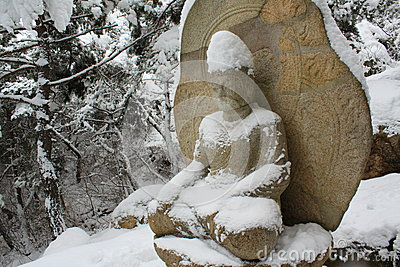 Buddha in winter, Gyeongju, South Korea