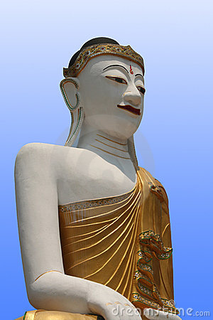 Free Buddha With Blue Background Stock Photography - 695632