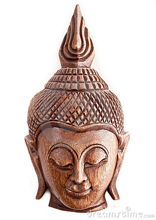 Buddha wooden mask from Thailand