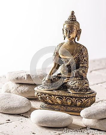 Buddha for zen attitude on mineral background stock photo image 53470421 - Symbole zen attitude ...