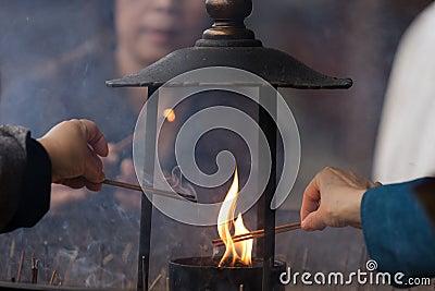 Buddhism ceremony
