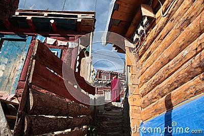 Buddhism szkoła wyższa larong seda wuming Obraz Editorial