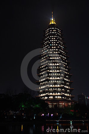 Buddhism tower