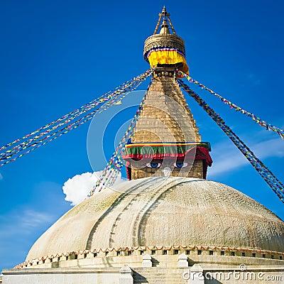 Buddhist Boudhanath Stupa. Nepal, Kathmandu