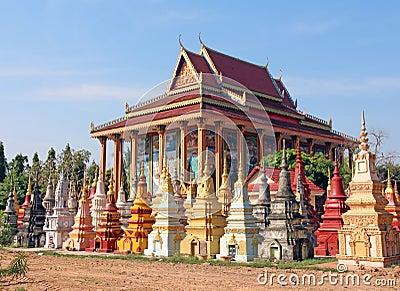 Buddhist cemetery in Cambodia