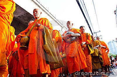Buddhist charity and merits. Editorial Photo