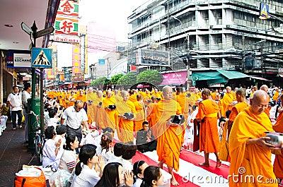 Buddhist charity and merits. The occasion BuddhaJa Editorial Image