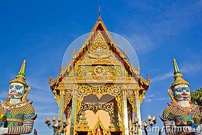 Buddhist church on koh samui