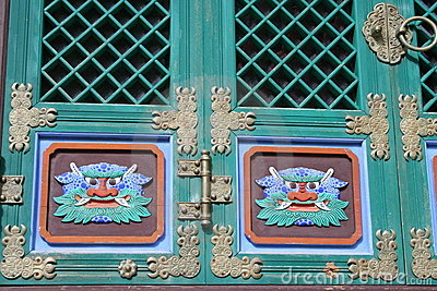 Buddhist door