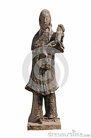 Buddhist goddess statue