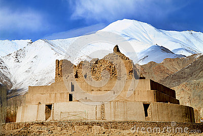 Buddhist gompa remains