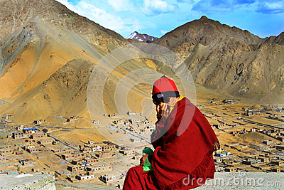 Buddhist lama Editorial Image