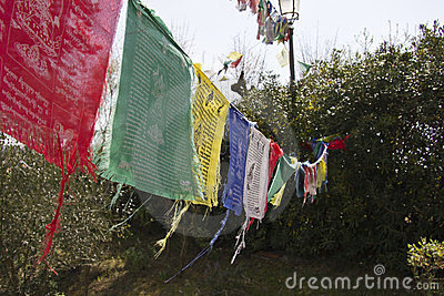 Buddhist monastery flags