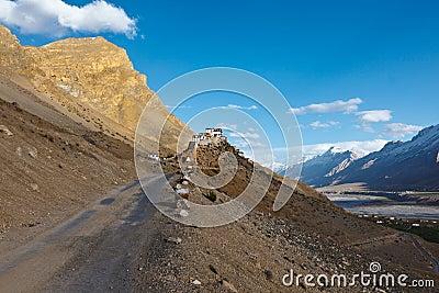 Buddhist monastery in Himalayas