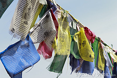 Buddhist monastery, Tibetan prayer flags
