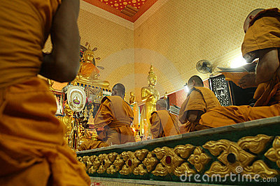 Buddhist monastery Wat Klong Prao in Koh Chang Editorial Photo