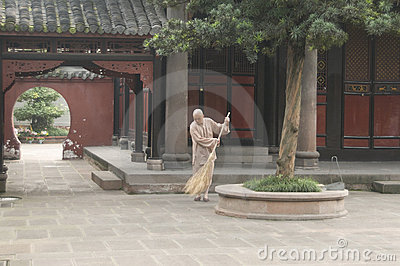 Buddhist monk Editorial Image