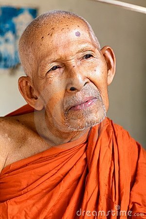 Buddhist Monk in Cambodia Editorial Photo
