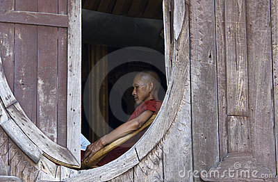 Buddhist Monk in Myanmar (Burma) Editorial Stock Image