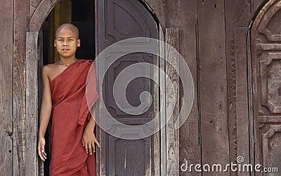 Buddhist Monk in Myanmar (Burma) Editorial Photo