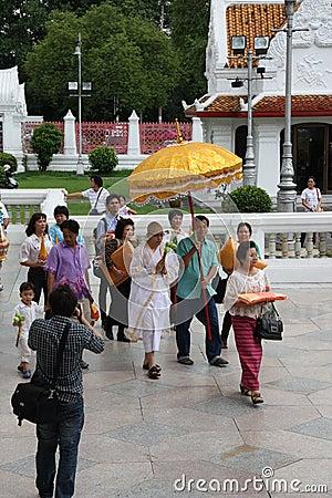 Buddhist Monk Ordination Editorial Photography