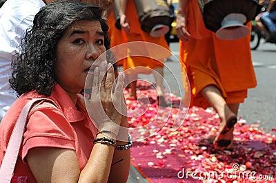 Buddhist Monk Pilgrimage Editorial Stock Image