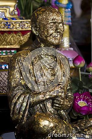 Buddhist monk s statue