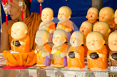 Buddhist Monk souvenir stall Editorial Image