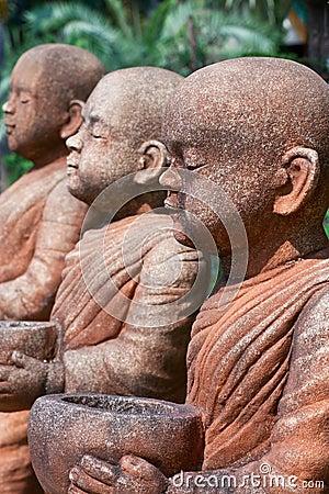 Buddhist Monk statue.