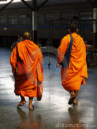 Buddhist Monks Editorial Photo