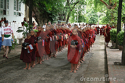 Buddhist monks Editorial Stock Image