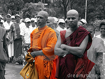 Buddhist Monks Editorial Photography