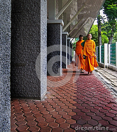 Buddhist monks Editorial Stock Photo