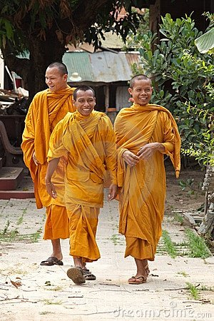 Buddhist Monks in Cambodia Editorial Image