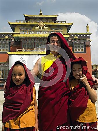 Buddhist Monks - Kathmandu - Nepal Editorial Image