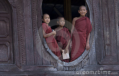 Buddhist Monks in Myanmar (Burma) Editorial Stock Image