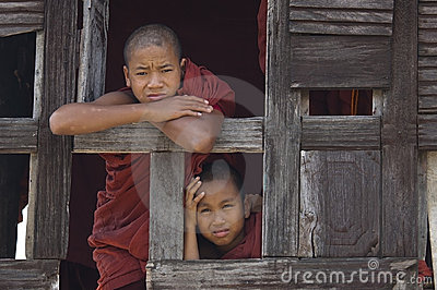 Buddhist Monks in Myanmar (Burma) Editorial Image