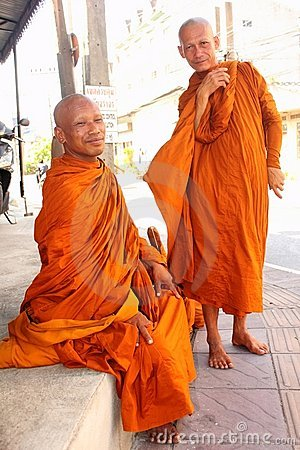 Buddhist Monks in Thailand Editorial Photo