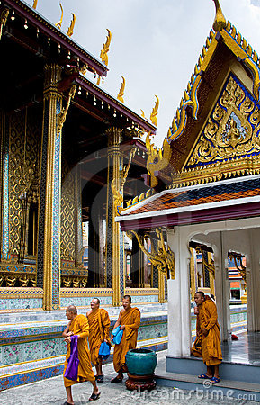 Buddhist Monks in Thailand Editorial Stock Photo