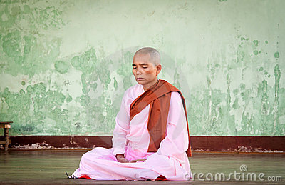 Buddhist nun Editorial Photo