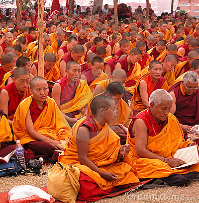 Buddhist nuns Editorial Photo