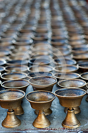 Buddhist oil lamps