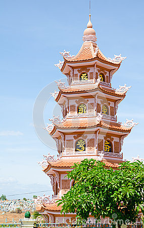 Buddhist pagoda in Vietnam