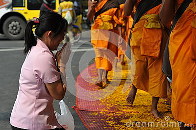 Buddhist Pilgrimage Editorial Image