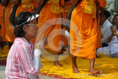 Buddhist Pilgrimage Editorial Stock Image