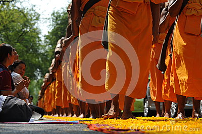 Buddhist Pilgrimage Editorial Image