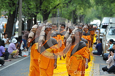 Buddhist Pilgrimage Editorial Stock Photo