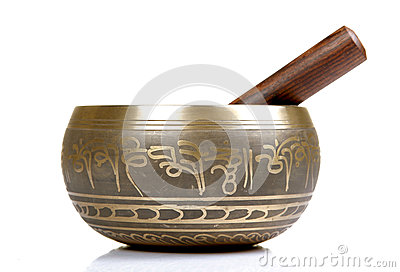 Buddhist prayer bowl